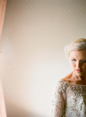Short Fishnet Bridal Veil