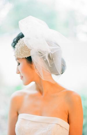Short Veil and Bridal Chappeau