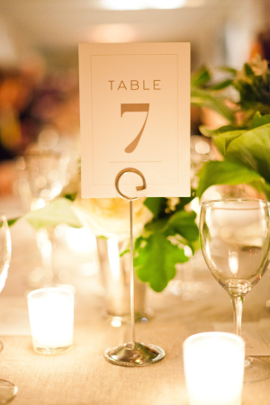 Simple Reception Table Numbers
