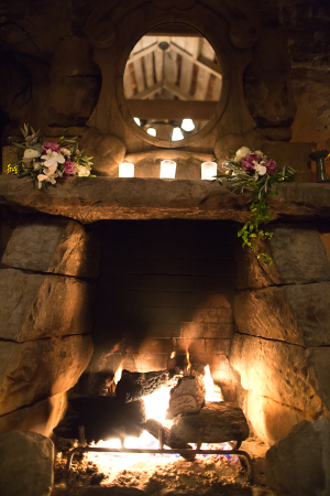 Stone Fireplace and Mantel