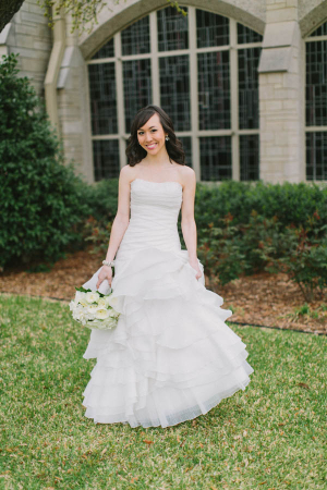 Strapless Wedding Gown With Ruffle Skirt