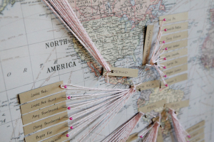 String Art Map Guest Book