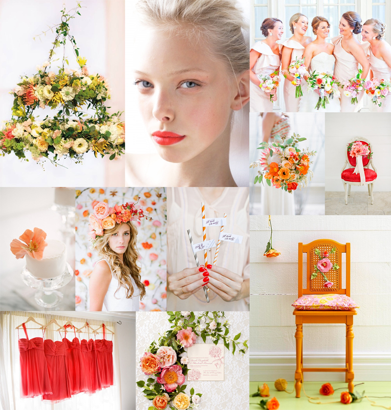 Tangerine Berry Wedding Colors