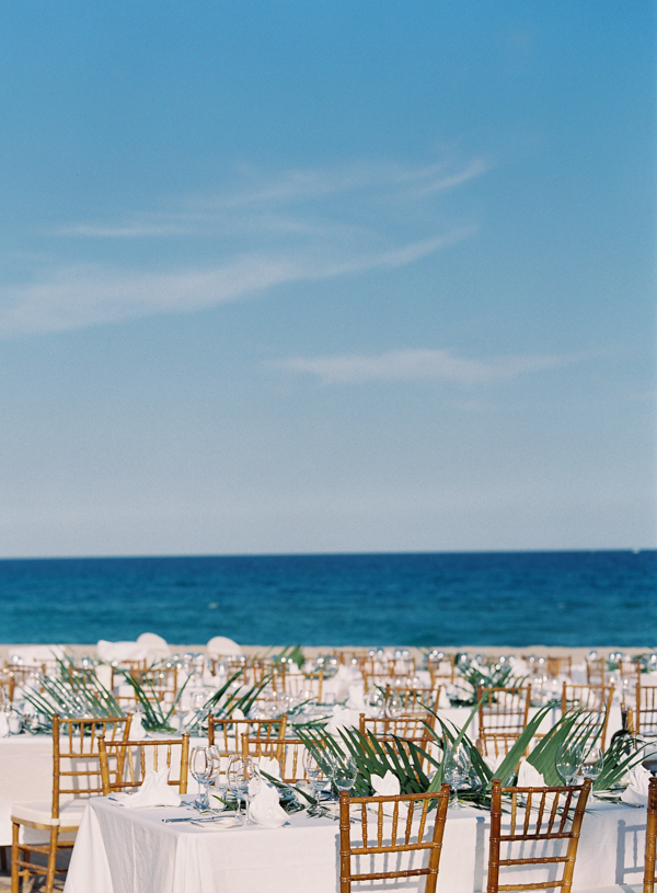 Waterfront Palm Beach Wedding Reception