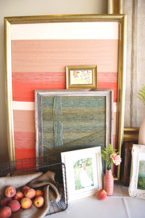 Yarn Wrapped Canvas Decor