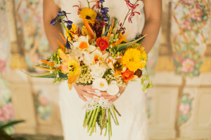 Yellow and Orange Wildflower Bouquet