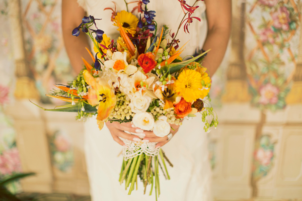 Yellow and Orange Wildflower Bouquet