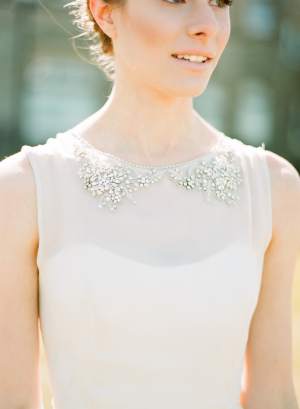 Beaded Sheer Gown Overlay