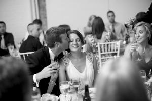 Beaded Shoulder Silk Wedding Gown