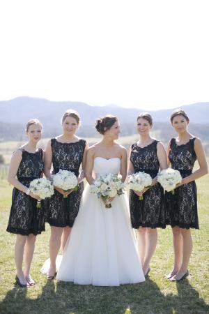Black Lace Bridesmaids Dresses1