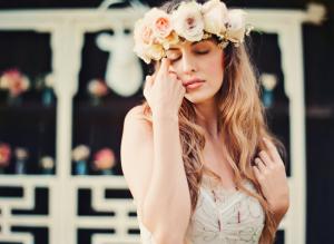 Blush Rose Hair Wreath