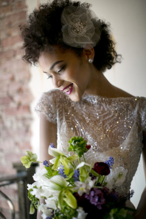Bridal Gown Sheer Beaded Bodice