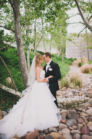 Bridal Gown With Tiered Sheer Skirt