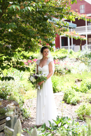 Bridal Portrait in Garden From Anna K