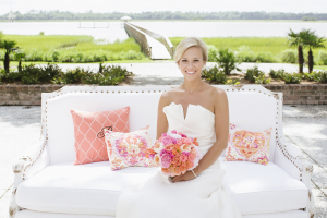 Bridal Portrait on Outdoor Couch