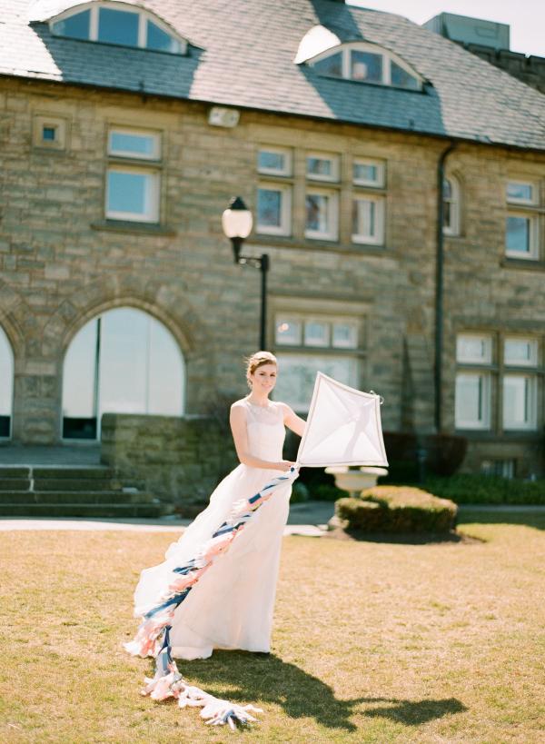 Bride Flying Kite
