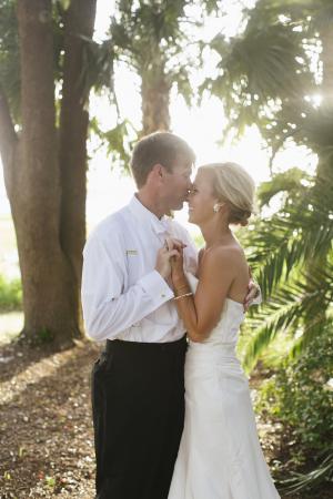 Bride and Groom Outdoor Charleston Portrait