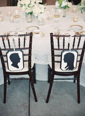 Bride and Groom Silhouette Chair Decor