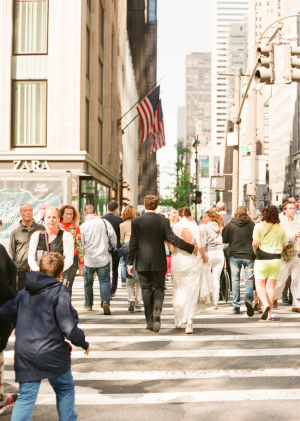 Bride and Groom Streets of NYC