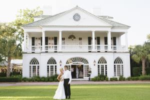 Bride and Groom at Charleston Plantation