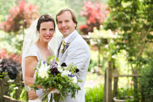 Bride and Groom in Garden From Anna K