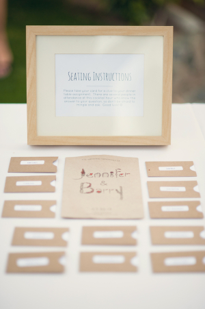 Brown Paper Place Cards