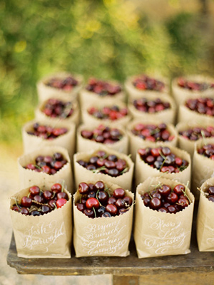 Cherry Escort Cards and Favors