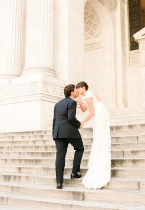 Couple Portrait on Church Steps