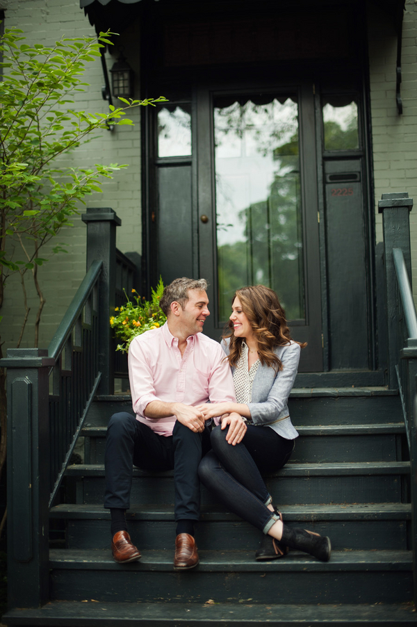 Couple on Chicago Front Stoop