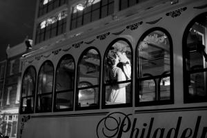 Couple on Philadelphia Trolley