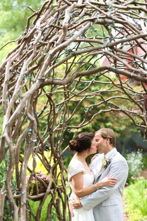 Curly Willow Arch in Garden Wedding Venue Ideas