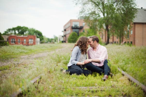 Engagement Photos on Abandoned Railroad Tracks