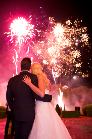 Fireworks at Wedding Receptions