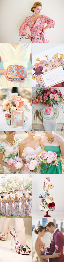 Floral Print Wedding Ideas