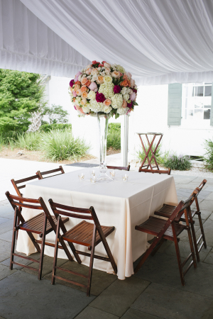 Floral Topiary Reception Centerpiece