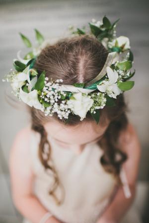 Floral Wreath Flowergirl Hair Ideas