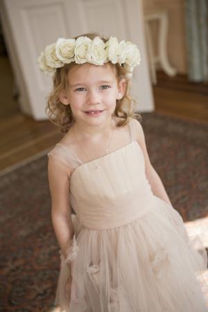 Flower Girl in Blush Gown