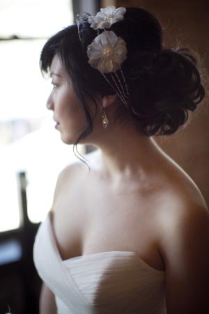 Flower Wire Headband Bridal Hair Ideas
