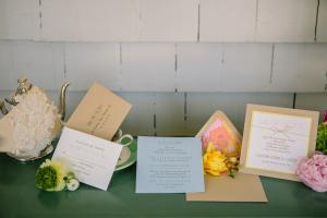Garden Floral Motif Wedding Stationery
