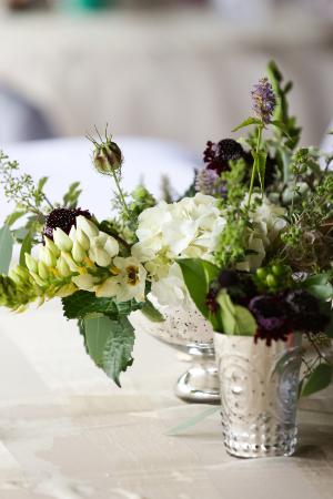 Garden Florals in Silver Cups