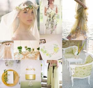 Goldenrod Avocado Wedding Colors