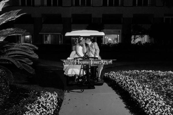 Golf Cart Reception Getaway