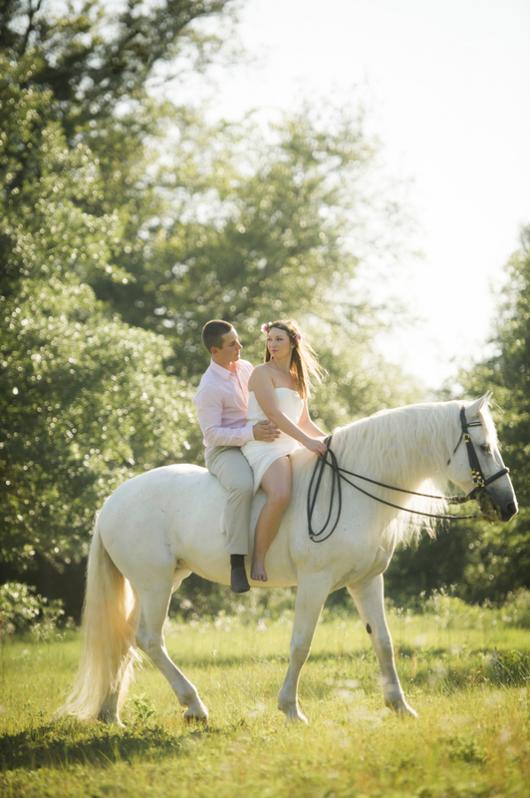 Horseback Riding Engagement Photos