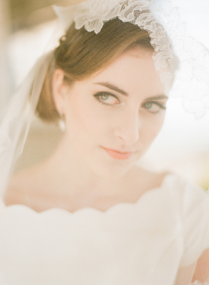 Lace Edge Bridal Veil