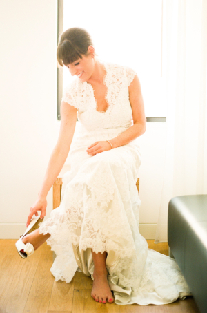 Lace Wedding Gown With Cap Sleeves