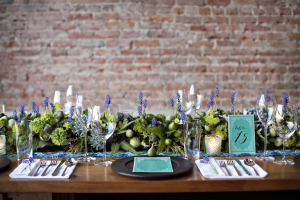 Lavender and Succulent Garland Centerpiece