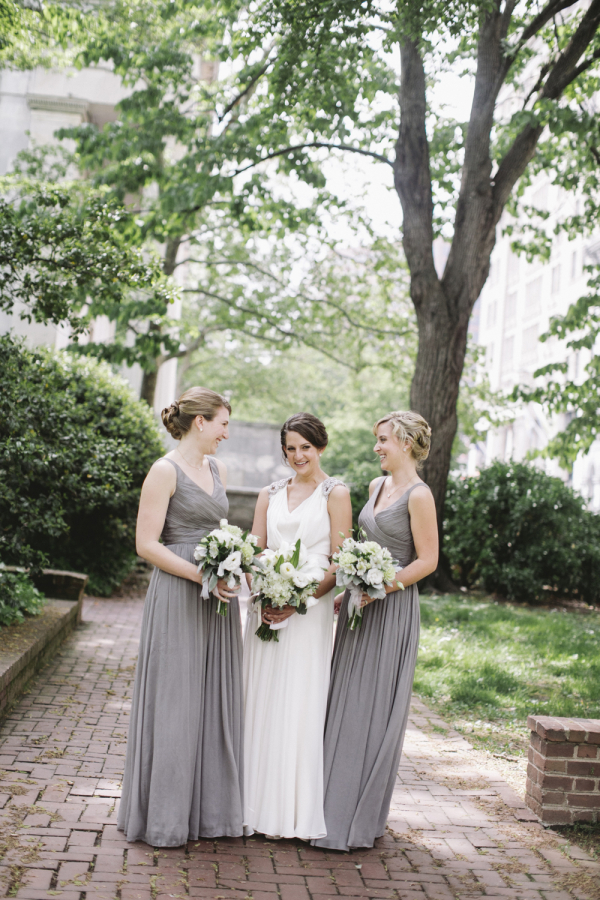 Light Gray Bridesmaids Dresses