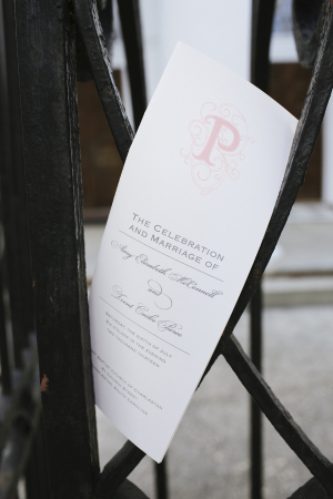 Light Pink and White Ceremony Program
