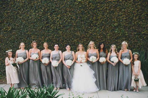 Light Gray Bridesmaid Dresses Knee Length Soft Tulle: Long Light Gray Bridesmaids Dresses
