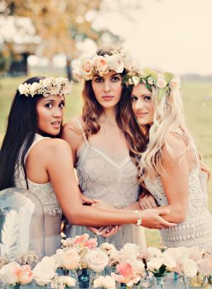 Lush Floral Hair Wreaths